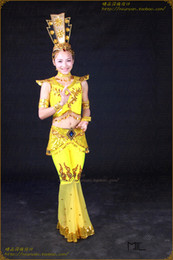 Wholesale Costume Dance clothing apparel stage show a Buddism godness Guanyin Bodhisattva of Dance Costume