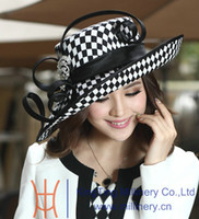 Wholesale Winter ladies satin dress hat women kentucky derby hat church hat formal hat for women hot sale hat top hat high quality hat new arrival