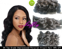 Wholesale 90 off GAGA A Unprocessed Queen Hair Products Body Wave Virgin Hair Extensions Rose Peruvian Hair weft quot DHL Free