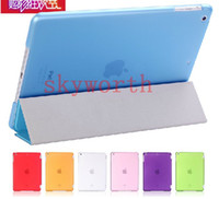 Wholesale Front Smart Cover Hard Plastic Back Case Matte Cover for ipad air ipad Magnetic Sleep Wake UP