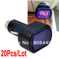 Wholesale Black DC V Mini LCD Car Battery Voltage Meter Monitor TK0024