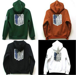 Wholesale Attack on Titan Shingeki no Kyojin Scouting Legion Hoodie Cosplay Cloak Hoodies amp Sweatshirts