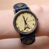 Wholesale big watches Eiffel hot sale dropship