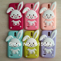 For Chinese Brand other Yes Free Shipping 2014 New Item High Quality Cartoon Rabbit Silicone Skin Rubber Shell Melody Case for HUAWEI G610 C8815 Phone Cover