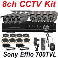 Dome camera 4pcs  surveillance video camera - sale cheap best ch cctv kit system security surveillance video camera channel full D1 HD DVR network digital video recorder