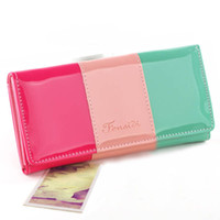 Wallets twist tie - new fashion lady women retro long purse Hit color clutch long wallet high quality bag