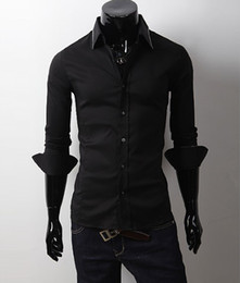 Wholesale NEW Men s casual Slim long Sleeve Shirts Men s shirts Dress Shirts For Men Business Shirts