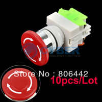 Wholesale 10pcs New Emergency Stop Switch Push Button Mushroom Push Button Switch TK0325