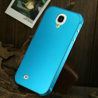 Wholesale thin All Metal Aluminium Alloy Case For Samsung Galaxy S4 i9500 Metal Armor Cover Luxury Fashion Back Shell