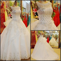 Wholesale Empire Ball Gown Corset Wedding Dresses Decorated With Crystals Rhinestone Bling Wedding Dress Back Have Big Bow Lace Up Wedding Dresses
