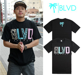 Wholesale Hiphop T shirt Casual Tees BLVD fashion t shirts Cotton t shirt streetwear color big size S XXXL