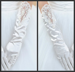 Wholesale Hot Sales White Lace Elegant Wedding Gloves Wedding Accessories