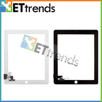 Wholesale Digitizer Touch Screen Pannel for Apple iPad Black White Glass Faceplate Repair Part Replacement AA0063