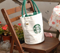 Shoulder Bags handbags in japan - 5pc STARBUCKS Drum shape Casual Canvas Bag Women s Messenger Bags Handbag Free shipment factory price popular in japan