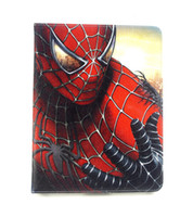 Wholesale Original Brand Cartoon Spider Man Batman Superman Slim Stand Leather Cases Smart Cover For Ipad AIR Ipad Tablet Handbags Pouch