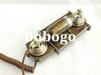 antique telephone stand - Fashion classic vintage telephone fashion antique wall telephone home furnishings rope Retro Phone Stand
