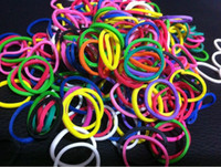 Educational Supplies - Christmas toys Rainbow loom kit Rubber Bands bags bag educational toys Adequate supply