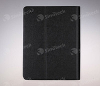 Wholesale flip Folio book cover leather Case skin shell protection with Stand holder cases for table PC inch ipad ipad5 ipadair air Multi color