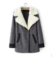 Cheap In the fall of 2013 new European and American women's clothing wholesale lamb fur color coat 2924