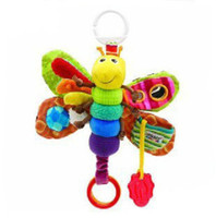 Wholesale Lamaze butterfly baby toy childhood toy baby bed hanging bell baby educational plush toys toddlers toys