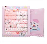 Wholesale 21pcs set Gift Set cotton baby clothes newborn baby clothes warm winter gift