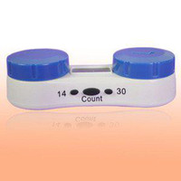 Wholesale LCD Lensalert Contact Lens Care Kit Timer Travel Storage Soaking Case A296