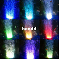 Wholesale Colorful led gradient color air bubble lamp bubbles disk lamp submersible lamp aquarium light fish tank lights