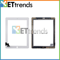 Wholesale Touch Screen Digitizer Assembly for iPad with Home Button amp M Adhesive Glue Sticker Black White Replacement Repair Parts AA0066