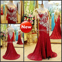 Wholesale 2014 New Hot Sale Evening Dresses Gorgeous High Neck Sheath Court Train Sequins Crystal Beaded Beading Hollow Back Gown Prom Dresses GF634