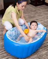 Wholesale Inflatable baby bathtub newborn supplies bath tub Suitable for years old