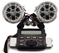 Wholesale 12V FM MOTORCYCLE RADIO WATERPROOF SPEAKER MP3 IPOD