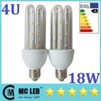 Ampoule Led énergie Savnig 4U 360 Lumière Angle 18W E27 Led maïs Lumières Froid / Chaud 64pcs Blanc 110-240V 5730 SMD 1600 Lumens CE ROHS