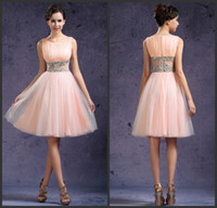 Reference Images short corset dresses for prom - Best Selling Coral A Line Beaded Puffy Short Dresses Cheap Corset Prom Dresses For Junior Homecoming Party