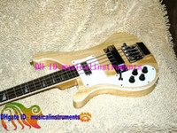 Wholesale 4003 Bass Left Hand Bass Guitar Natural Strings Electric Bass Guitar Wooden OEM Musical instruments