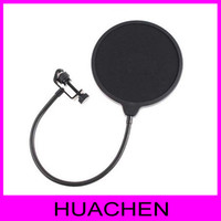 Wholesale Goose neck Studio Microphone POP adjustable shield acoustic filter
