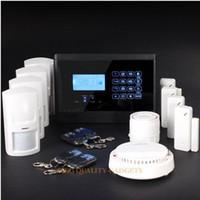 4Channel   Wireless&wired GSM Autodial Burglar Intruder Fire Alarm System Kit+ Smoke Sensor
