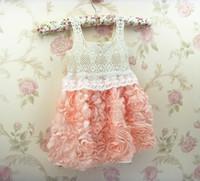 Baby girl kids crochet dress lace dress crocheted flower flo...