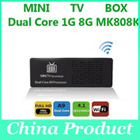 Wholesale TV box MK808 MK808B GB G RK3066 Dual Core Android Mini PC TV Box HDMI WIFI Full HD p Android TV BOX