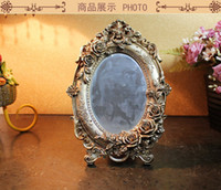 Wholesale DHL Court style resin mirror vanity mirror decorative Table mirror princess married desktop mmj057