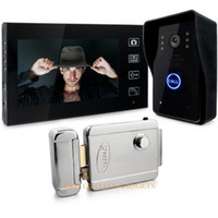 Wholesale 7 quot Wireless Video Door Phone Doorbell Intercom System Touch Key Electronic Lock