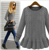 Wholesale Women sweaters Crochet dress sweaters knitting bottoming dress sweaters clothing