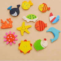 Wholesale New Arrival Cute Creative Items Animal Wooden Magnetic Fridge Magnet Sticker Refrige L421