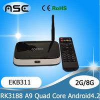 Wholesale EKB31 MK888B Bluetooth GB Ram GB Rom Quad Core RK3188 Cortex A9 Full HD Multi Media Player Android TV Box MK888 K R42 CS918