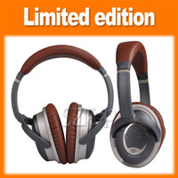 Wholesale Newest Acoustic Noise Cancelling On Ear Headphone Brand New Quiet Comfort Headphone Brown with Package