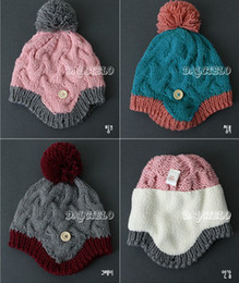 Wholesale Children winter cap children children qiu dong han edition hat children with velvet hat