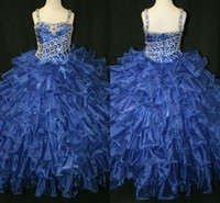 Little Girl's Pageant Dresses Glitz 2014 Spaghetti Toddler C...