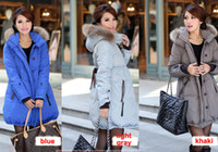 Wholesale maternity clothing Winter long coat women s jackets raccoon big fur plus size clothing down coats wadded jacket outerwear size XS XL
