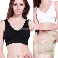 Wholesale Womens Ladies shaper Seamless Removable Padded Sports Crop Top Vest Stretch Yoga Bra NX70