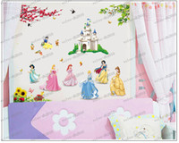 Removable assembling art - LLFA3412 assembled size cm cm princesses Combination Wall Stickers cartoon stickers