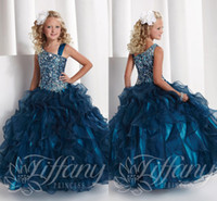 One Shoulder Bling Little Girl's Pageant Dresses Glitz 2014 ...